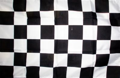 CHECKERED BLACK & WHITE - 5 X 3 FLAG